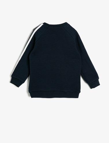 Koton Kids Yazılı Baskılı Sweatshirt Lacivert